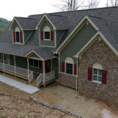 Custom Home in Mills River NC Builder WNC Country Porch